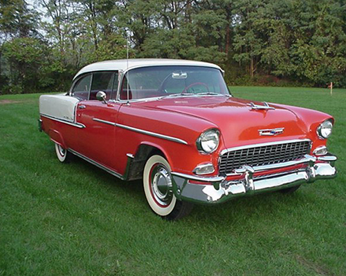 1955 chevy bel air 2 door hardtop jcrist museum for 1955 chevy two door