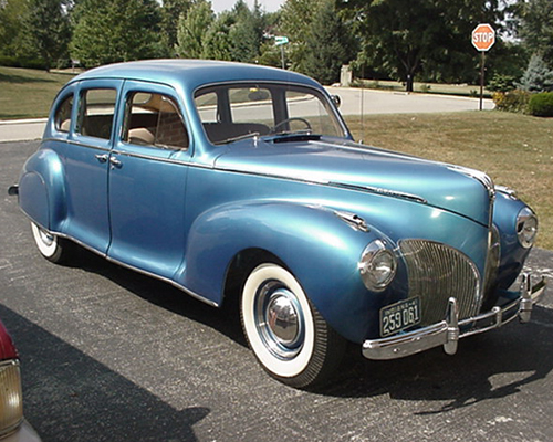 1941 lincoln zephyr four door sedan jcrist museum for 1941 chevy 4 door sedan